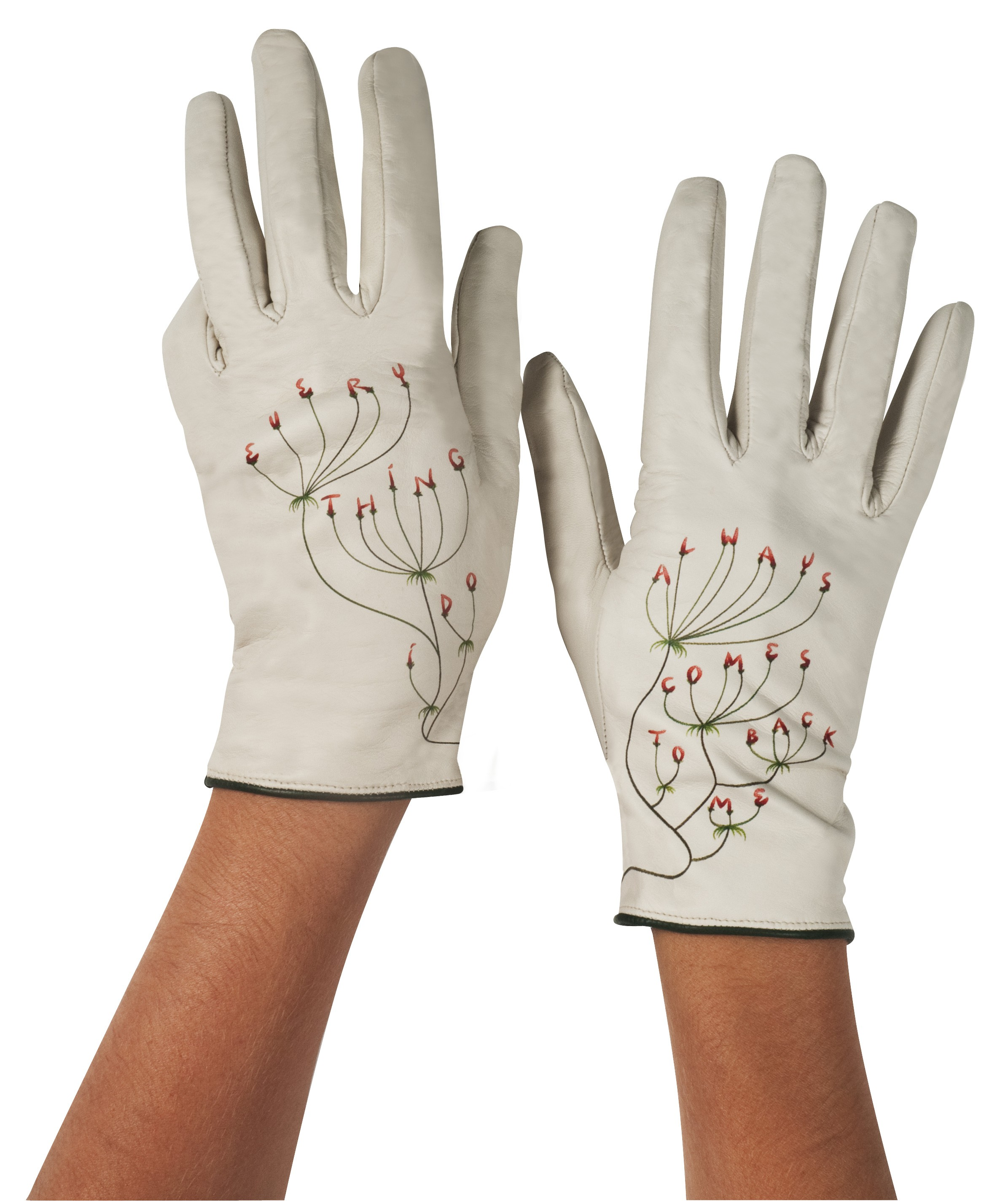 Typographic Gloves